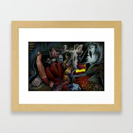 """""""Dimension Of A Nightmare"""" Framed Art Print"""