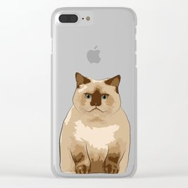 Fluffy CAT Clear iPhone Case