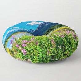 God's Country - Summer in Alaska Floor Pillow