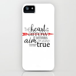 THE HEART IS AN ARROW | SIX OF CROWS BY LEIGH BARDUGO iPhone Case