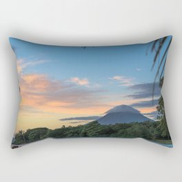 Ometepe in a Nutshell Rectangular Pillow