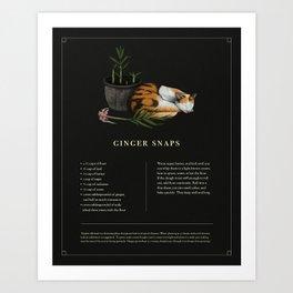 Ginger Snaps Art Print