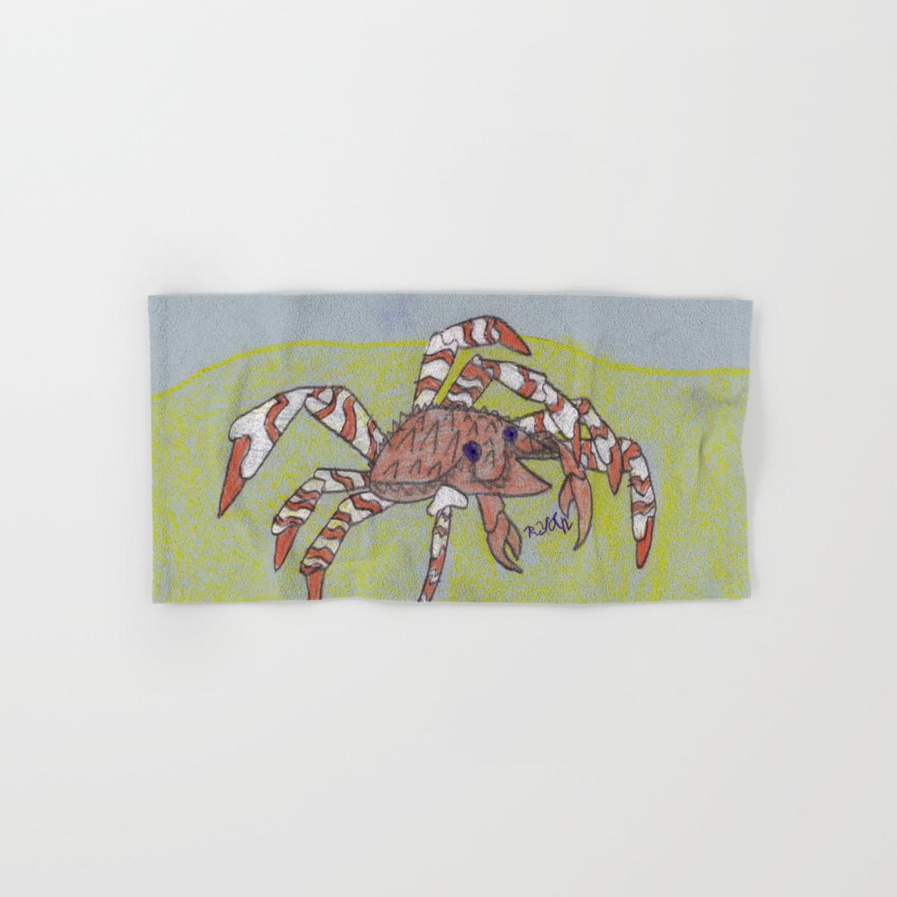 Spider Crab Hand Towel by Ryanvangogh BTL8490487