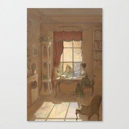 Jane Austen, Mansfield Park - the East Room Canvas Print