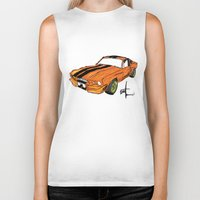 mustang Biker Tanks featuring Mustang by Portugal Design Lab