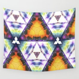 Prism Triangle Original Artwork by Rachael Rice Wall Tapestry