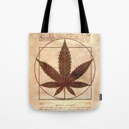 vitruvian marijuana Tote Bag