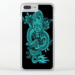 Epic Dragon Teal Clear iPhone Case