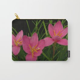 Pretty Pink Rain Lilies Carry-All Pouch