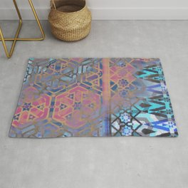 Geometric Moroccan Patterns Rug