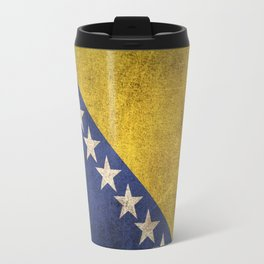 Old and Worn Distressed Vintage Flag of Bosnia - Herzegovina Travel Mug