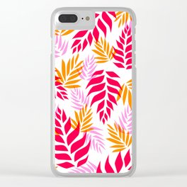 Floral Abstract 01 Clear iPhone Case