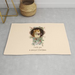 PURRFECT CHRISTMAS greeting card Rug