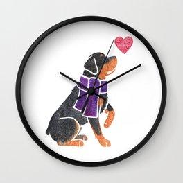 Watercolour Rottweiler Wall Clock