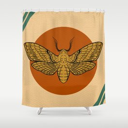 Vintage Death Head Moth Shower Curtain