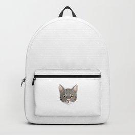 Tabby Cat Mom Fur Life Kitty Pun Backpack