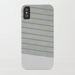 Concrete & Stripes II iPhone Case
