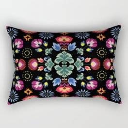 Fiesta Folk Black #society6 #folk Rectangular Pillow