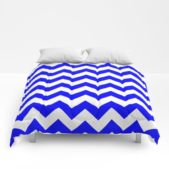 Chevron (Blue/White) Comforters