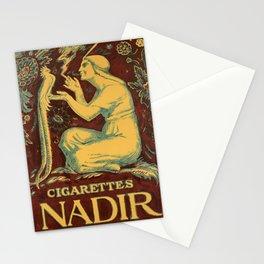 retro poster cigarettes nadir bird Stationery Cards