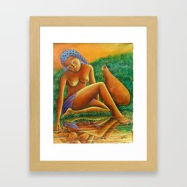 Queen of the river Painting Framed Art Print