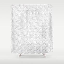 Black Scallop Dots Shower Curtain