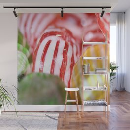 Macro of Stiped Hard Candy Wall Mural