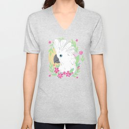 Umbrella Cockatoo Unisex V-Neck