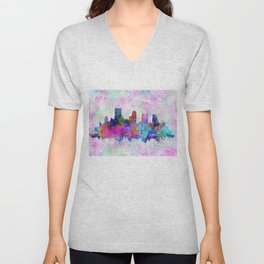 pittsburgh city skyline Unisex V-Neck