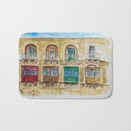 Maltese Balconies Bath Mat