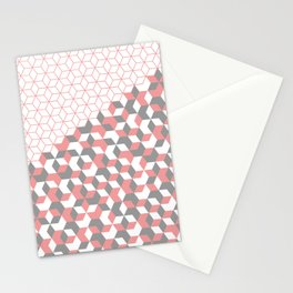 Hexagon(pink) #2 Stationery Cards