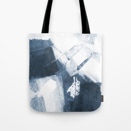 Blue and White Abstract Painting Tote Bag