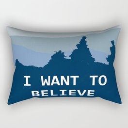 I want to believe in Santa Rectangular Pillow