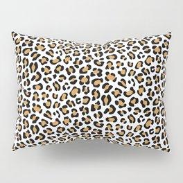 Leopard Print - Bg White Pillow Sham