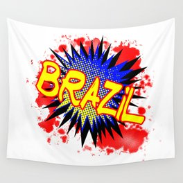 Brazil Comic Exclamation Wall Tapestry