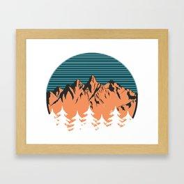 Sawtooths Framed Art Print