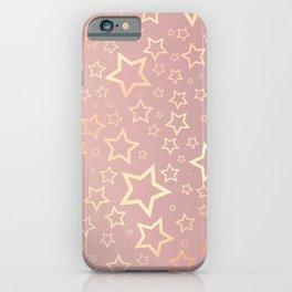 Rose Gold Stars  iPhone Case