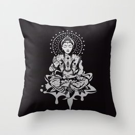 Buddha in lotus position Throw Pillow