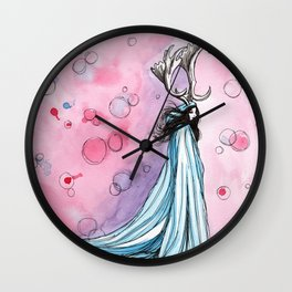 witchy bubbles Wall Clock