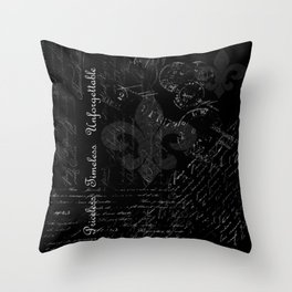 Priceless, Timeless, Unforgettable Throw Pillow