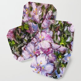 LET LIFE BE BEAUTIFUL LIKE SPRING AZALEA - abstract floral painting by HSIN LIN / HSIN LIN ART Coaster