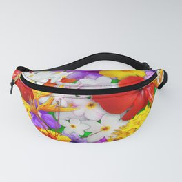 Exotic Flowers Colorful Explosion Fanny Pack