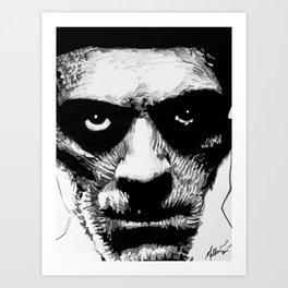Karloff as The Mummy Art Print