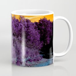 Not home planet alien landscape indigo purple orange surreallist Coffee Mug
