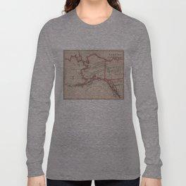 Vintage Map of Alaska (1883) Long Sleeve T-shirt