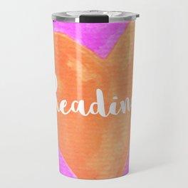 Reading mug, Bookish Mug, Bibliophle, Bookish Art, Bookstagram, Reading Travel Mug