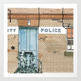COUNTY POLICE Art Print