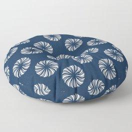 Shibori Swircles Floor Pillow