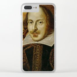 Vintage Portrait Painting of William Shakespeare (1609) Clear iPhone Case