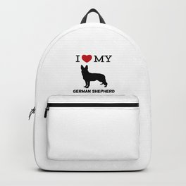 I Love my German Shepherd Design Backpack